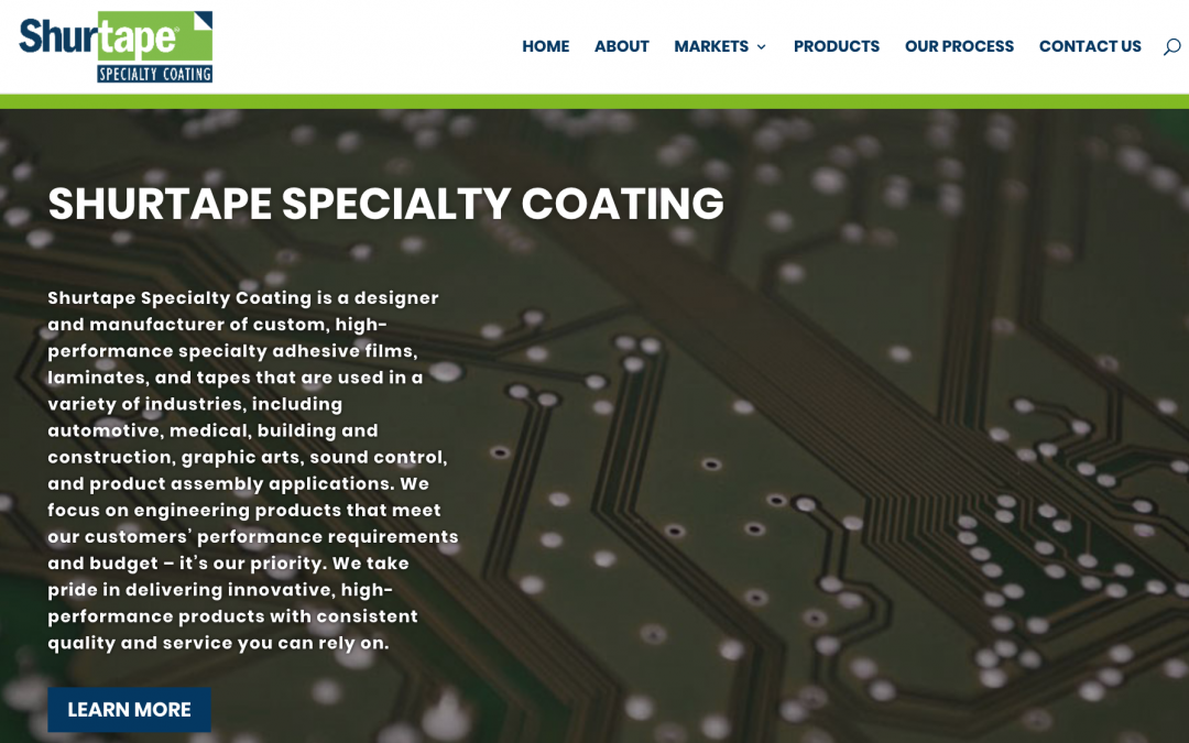 Shurtape Specialty Coating Launches Newly Renovated Website